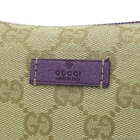 Gucci(구찌) 190393 GG로고 자가드 아이보리래더 파우치 숄더백