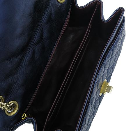 Chanel(샤넬) 2.55 빈티지 네이비 메탈릭 금장로고 체인 숄더백
