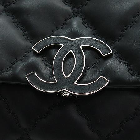 Chanel(샤넬) A66129 블랙 카프스킨 원플랩 햄튼 은장 체인 숄더백