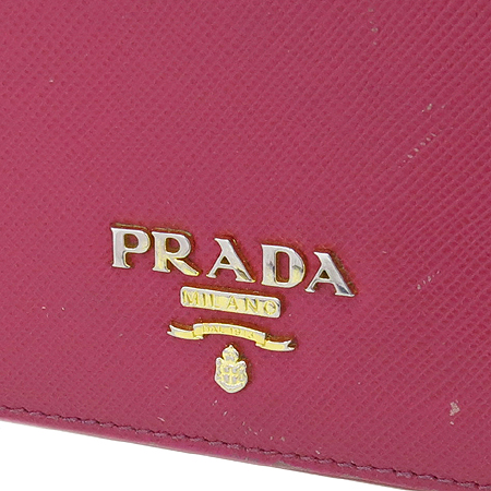 Prada(프라다) 1M1132 SAFFIANO METAL PEONIA 사피아노 핑크 금장로고 장지갑