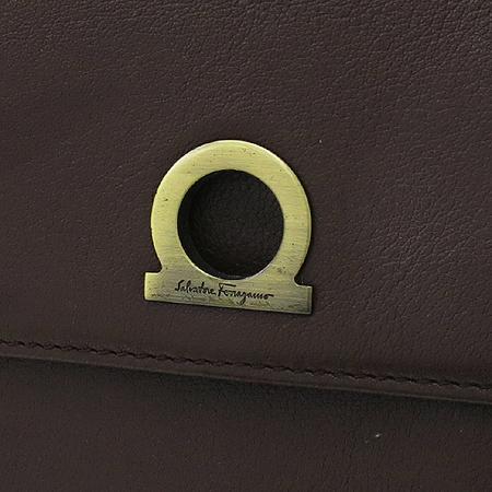 Ferragamo(페라가모) 22 3108 브라운 레더 반지갑 이미지3 - 고이비토 중고명품