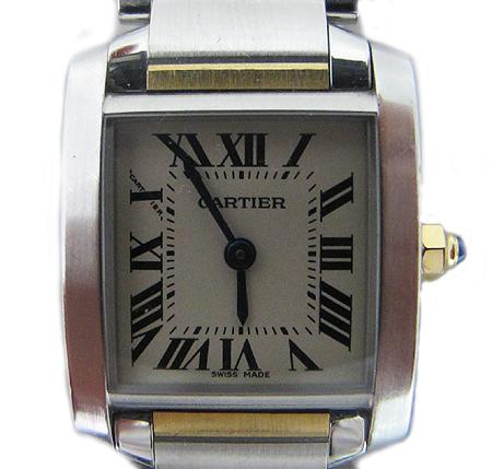 Cartier(까르띠에) W51007Q4 18K 콤비 탱크 S 사이즈 여성용 시계 [분당매장]