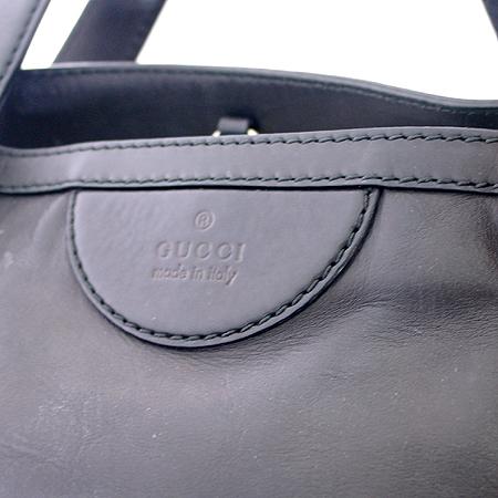 Gucci(구찌) 269931 블랙 레더 금장 로고 벨트 장식 2WAY