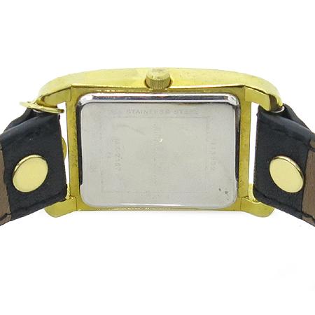 MICHAELKORS(마이클코어스) MK2164 금장 사각 가죽밴드 여성용 시계
