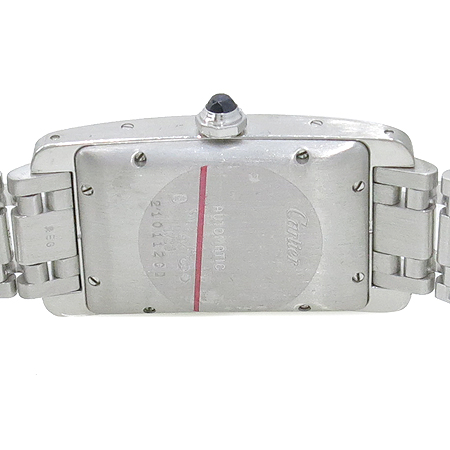 Cartier(까르띠에) W26055L1 아메리칸 탱크 L 사이즈 18K 화이트골드 오토매틱 남성용 시계