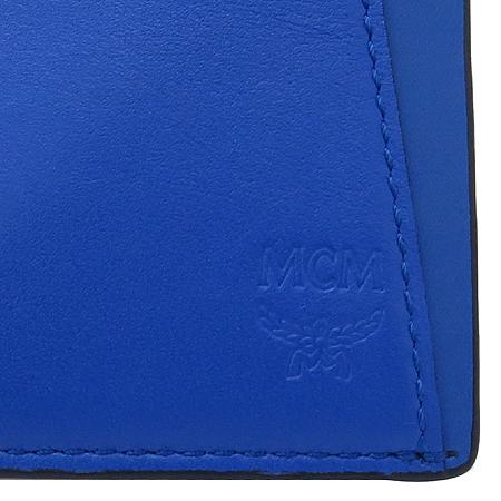 MCM(엠씨엠) MXS4SEG01LP001 블루 레더 남성용 반지갑 이미지3 - 고이비토 중고명품