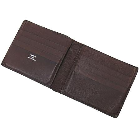 Hermes(에르메스) 브라운레더 엠시투코르페닉 8크레딧카드 반지갑