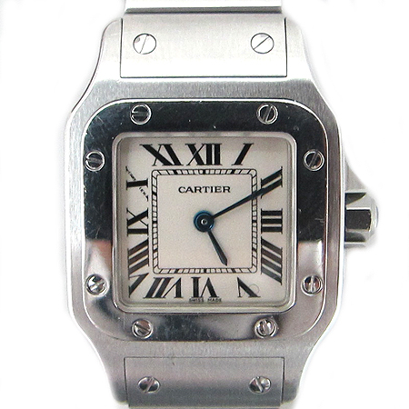Cartier(까르띠에) W20056D6 산토스 S 사이즈 스틸 여성용 시계 [분당매장]