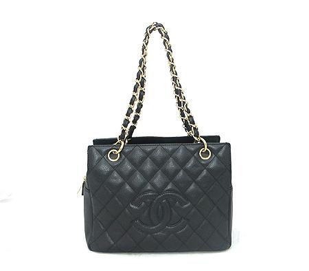 Chanel(샤넬) A18004Y01864 캐비어스킨 블랙 정방 금장 체인 숄더백 [분당매장] 이미지2 - 고이비토 중고명품