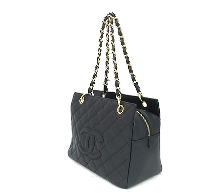 Chanel(샤넬) A18004Y01864 캐비어스킨 블랙 정방 금장 체인 숄더백 [분당매장] 이미지3 - 고이비토 중고명품