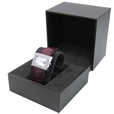 Gucci(구찌) ya100503 100L G스퀘어 가죽 밴드 여성용 시계