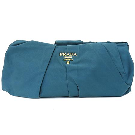 Prada(프라다) BP0051 파스텔 블루 실크 금장로고 클러치