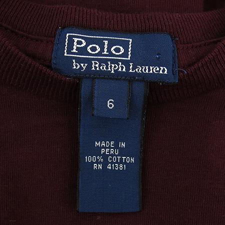 Polo Ralphlauren(폴로) 아동용 버건디컬러 포켓 티