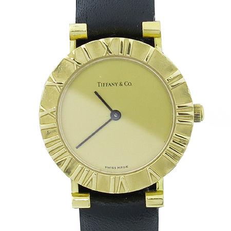 Tiffany(티파니) 18K 금통 아틀라스 가죽밴드 여성용 시계