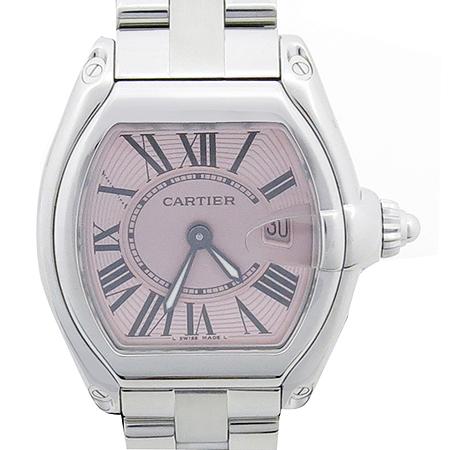 Cartier(까르띠에) W62017V3 ROADSTER(로드스터) 핑크판 스틸 여성용시계