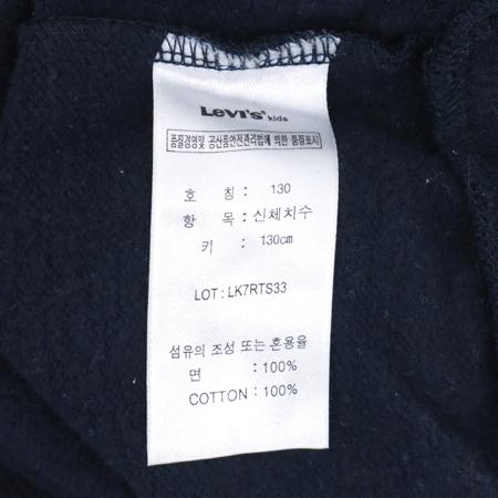 Levi's(리바이스) 아동용 네이비컬러 맨투맨 티