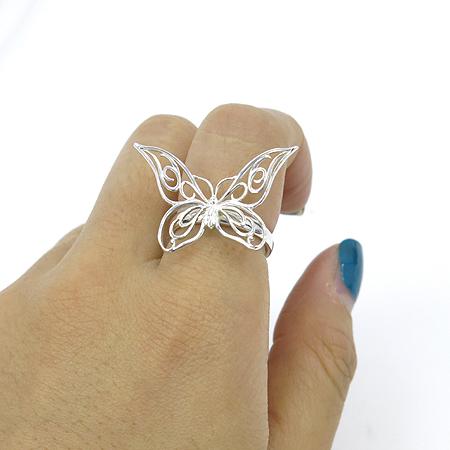 Tiffany(티파니) 925 실버 버터플라이 장식 반지