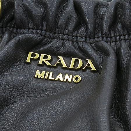 Prada(프라다) BR4259 SOFT CALF 다크그레이 금장로고 2WAY
