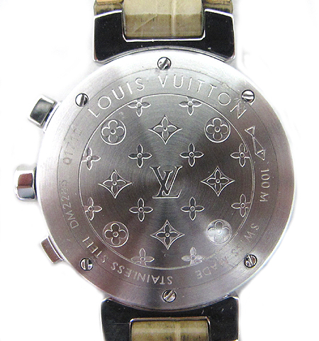 Louis Vuitton(루이비통) Q1710 땅부르 크로노 그래프 엘리게이터 스트랩 여성용 시계 [강남본점]