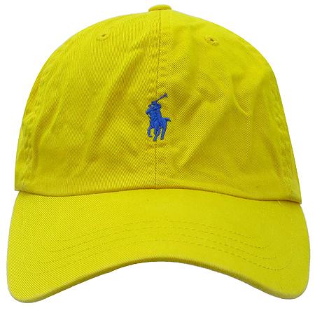 Polo Ralphlauren(폴로)옐로우 패브릭 로고 스티치 모자 이미지2 - 고이비토 중고명품