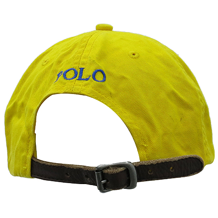 Polo Ralphlauren(폴로)옐로우 패브릭 로고 스티치 모자 이미지3 - 고이비토 중고명품