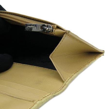 Ferragamo(페라가모) 22 0773 베이지 레더 간치노 로고 장지갑