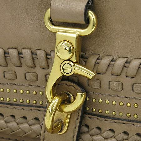 Gucci(구찌) 247183 베이지레더 위빙핸들 금장 징 태슬장식 숄더백