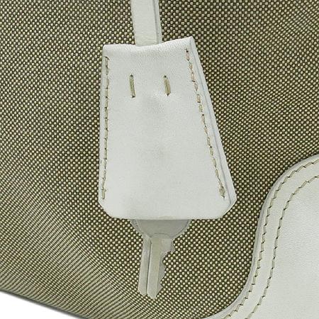 Prada(프라다) 밀라노 패브릭 레더 트리밍 숄더백