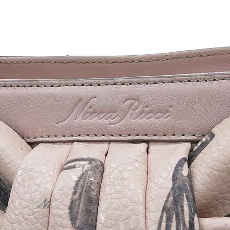NINARICCI(니나리치) 핑크 레더 리본 장식 2WAY