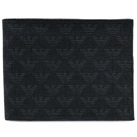 Armani(아르마니) 독수리 로고 PVC 블랙 레더 남성 반지갑