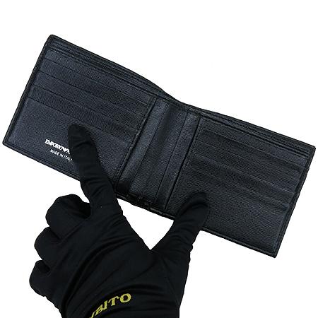 Armani(아르마니) 독수리 로고 PVC 블랙 레더 남성 반지갑 이미지3 - 고이비토 중고명품