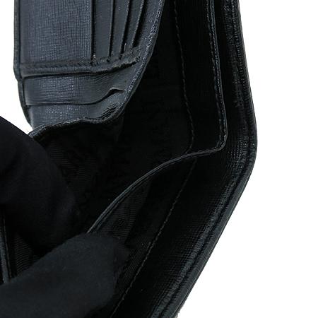 Armani(아르마니) 독수리 로고 PVC 블랙 레더 남성 반지갑 이미지5 - 고이비토 중고명품