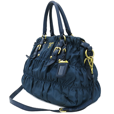 Prada(프라다) BN1336 금장 로고 장식 패브릭 고프레 2WAY [명동매장]