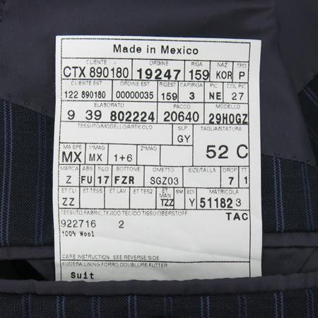 Zegna(제냐) 차콜그레이컬러 스트라이프 정장 이미지6 - 고이비토 중고명품