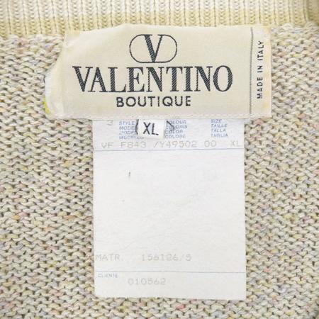 VALENTINO(발렌티노) 아이보리컬러 실크혼방 나시 니트, 가디건 세트