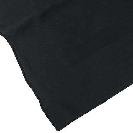 Louis Vuitton(루이비통) 블랙 모노그램 패턴 실크 스카프