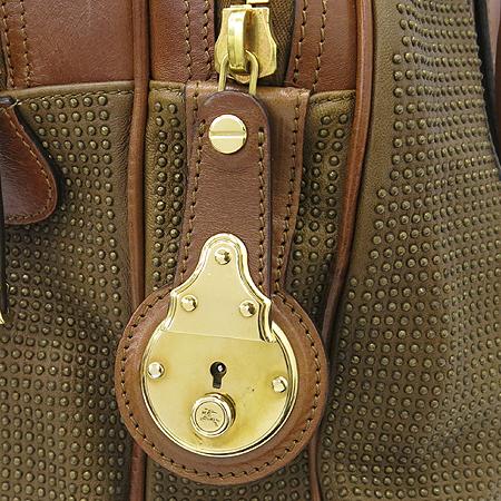 Burberry(버버리) 브라운 레더 스터드 장식 런웨이 나이트 토트백 [강남본점] 이미지4 - 고이비토 중고명품
