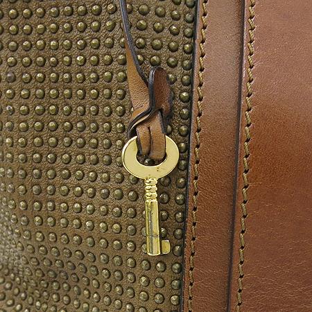 Burberry(버버리) 브라운 레더 스터드 장식 런웨이 나이트 토트백 [강남본점] 이미지6 - 고이비토 중고명품