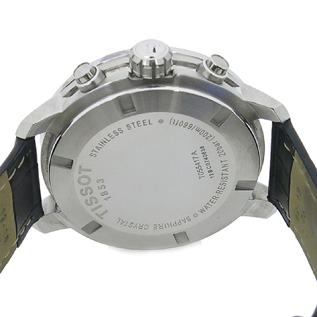 TISSOT(티쏘) T055.417.16.037.00 크로노그래프 실버판 가죽밴드 남성용 시계[부천 현대점]