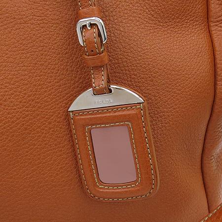 Prada(프라다) BR4393 은장 레터링 로고 오렌지 레더 토트백 + 숄더스트랩 [명동매장]