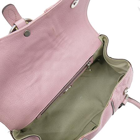 LUELLA(루엘라) 핑크 레더 지퍼 장식 토트백