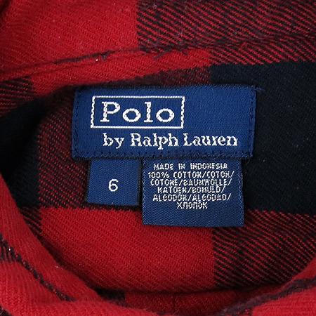 Polo Ralphlauren(폴로) 아동용 레드, 블랙컬러 체크 남방 이미지6 - 고이비토 중고명품