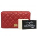 Chanel(샤넬) A35304 2.55 레드 컬러 마트라쎄 장지갑 [부산센텀본점]