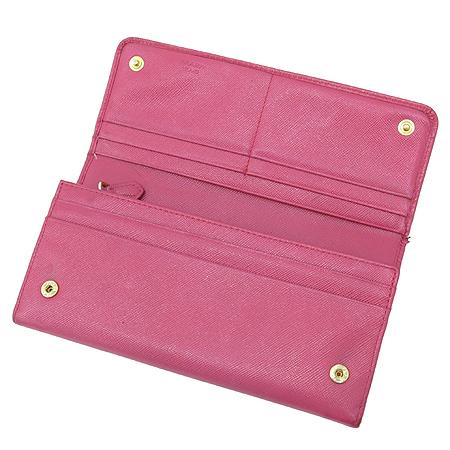 Prada(프라다) 1M1132 SAFFIANO METAL 핑크 사피아노 금장로고 장지갑