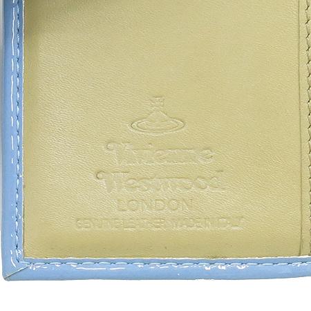 Vivienne_Westwood(비비안웨스트우드) ORB 은장 로고 장식 페이던트 반지갑
