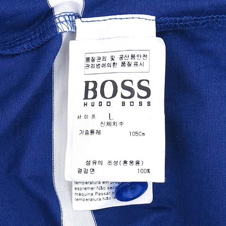 Hugo Boss(휴고보스) 스트라이프 카라 반팔 티
