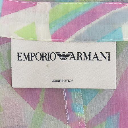Emporio Armani(엠포리오 아르마니) 멀티컬러 실크 나시 브라우스, 자켓 세트