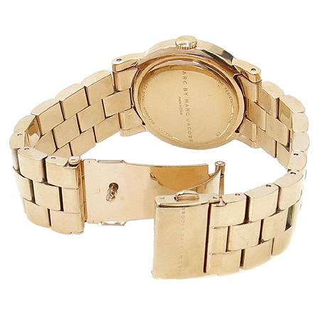 Marc_Jacobs(마크바이마크제이콥스) MBM3216 로즈골드 금장라운드 로고 다이얼장식 여성용시계