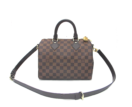 Louis Vuitton(루이비통) N41181 다미에 에벤 캔버스 반둘리에 스피디 25 토트백+숄더스트랩 [분당매장]