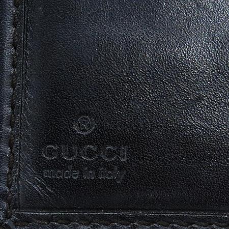 Gucci(구찌) 237359 GG 로고 자가드 브라운 레더 트리밍 반지갑[부천 현대점]
